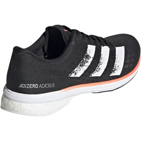 adidas Adizero Adios 5 Shoes Women core black/footwear white/signal coral